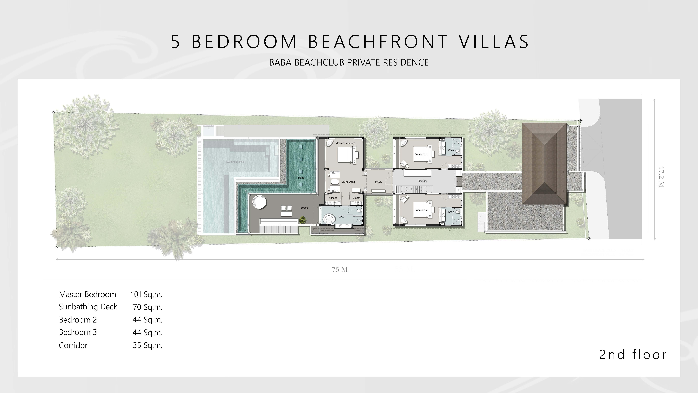 Baba Beach Club Phuket Beachfront 5 Bedroom Residence