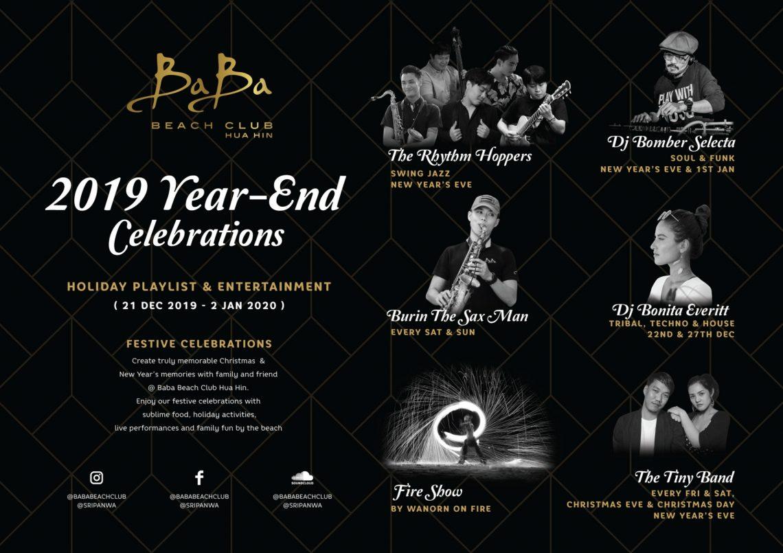 Happy New Year 2020 @ Baba Beach Club Hua Hin by Sri panwa