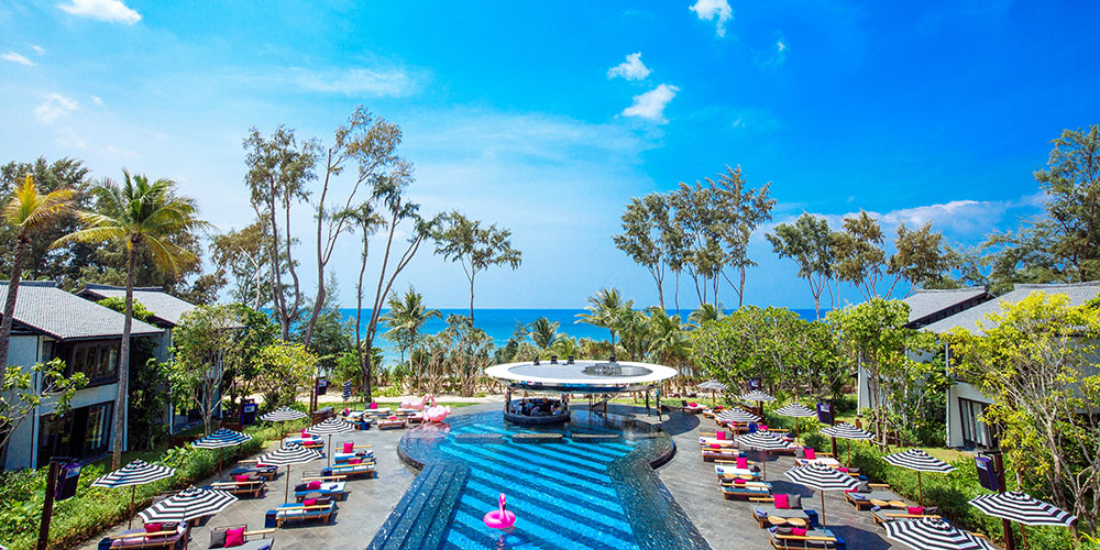 Over View Baba Beach Club Luxury Hotel Phuket