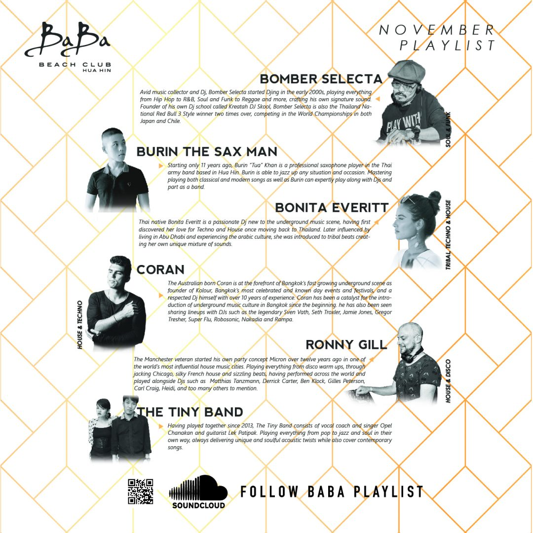 November Playlist – Baba Beach Club