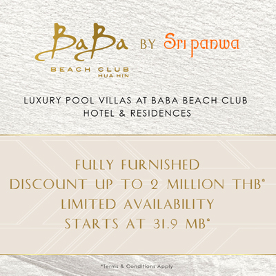Baba Beach Club Huahin Villa for sale Start at 31.9MB