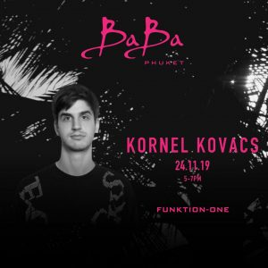 DJ Kornel Kovacs at Baba Beach Club Phuket