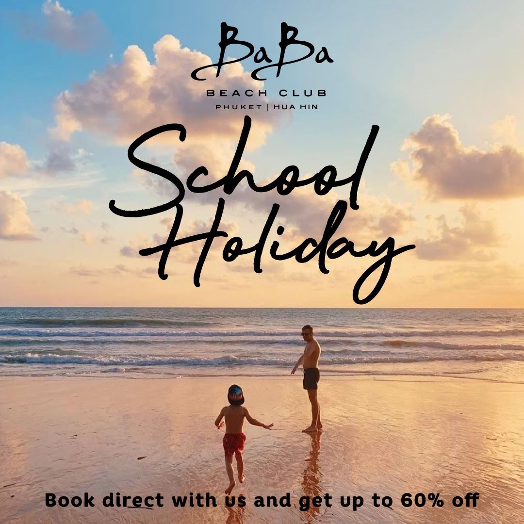 School Holiday 2020 Baba Beach Club HuaHin